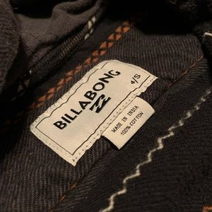 Boys Billabong Flannel With Hoodie